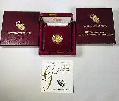 2018 W American Liberty 1/10th Ounce Gold Proof Coin .9999 fine gold