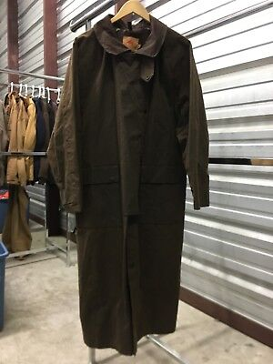 MENS MEDIUM - The Australian Outback Hunting Oiled Duster Coat Jacket Brown