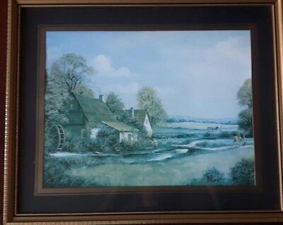 Framed Painting / Print of and Old Mill House