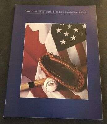 1986 WORLD SERIES BASEBALL PROGRAM, New York Mets vs. Boston Red Sox