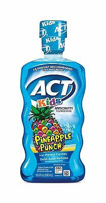 2 Pack ACT Kids Anticavity Fluoride Rinse, Pineapple Punch, 16.9 Ounce each