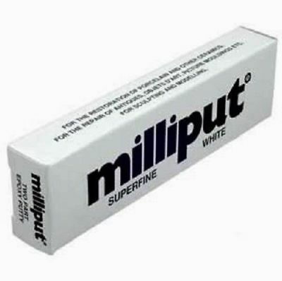 MILLIPUT Superfine White 2-Part Self Hardening Hobby Putty Tube FREE SHIPPING