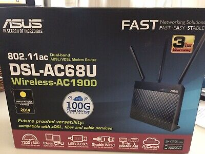 ASUS RT-AC68U 1300 Mbps Wireless AC Router Gigabit ethernet USB3.0 5Ghz