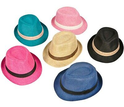 Baby Kids Girls Boys Fedora Trilby Gangster Hat Children Top Hat | Many Colours