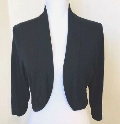 JESSICA HOWARD WOMEN S Shrug Cardigan Sweater Cover up Black Large L ... 2e174c072