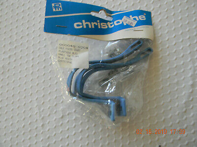 Extra Large NOS Vintage Christophe Plastic Resin Blue Toe Clips