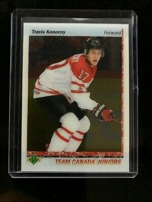 2017-18 UD Canadian Tire Team Canada Travis Konecny World Juniors Clear Cut WJC9