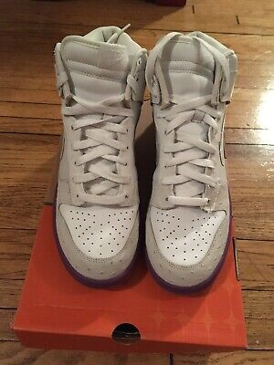 low priced 4fe17 5100b Men s Nike High Deluxe Mita Ostrich White Hyacinth Purple Gum Size 8.5