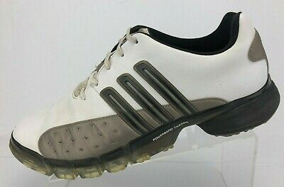 b7b1e1b8aab Adidas Golf Shoes Adiprene White Leather Lace Up Traxion Soft Spikes Mens  10.5