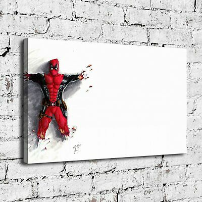 "12""x18""Deadpool Superhero HD Canvas prints Painting Home decor Room Wall art"
