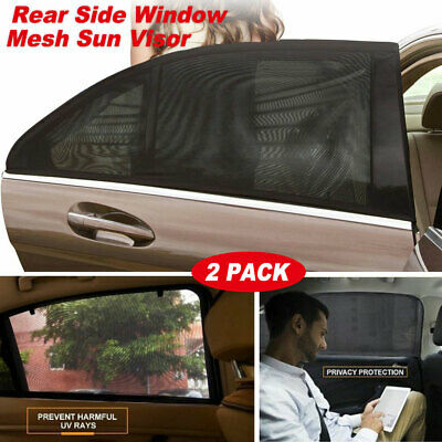 1Pair/2pcs Car Back Side Window Sun Visor Shade Sunshade UV Protector Cover US
