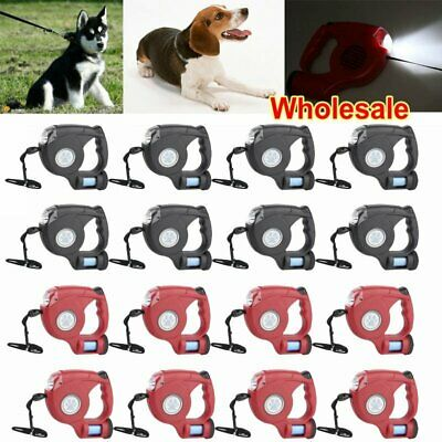 50 Pet Dog/Cat Automatic Retractable 16FT Traction Rope Walking Lead Leash LOT