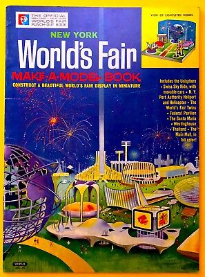 1964-1965 ~ Official New York World'S Fair, Make A Model Book ~ Fine, Unpunched