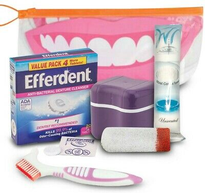 Denture Essentials Goodie Bag-Includes 6 Items for All your Denture Products