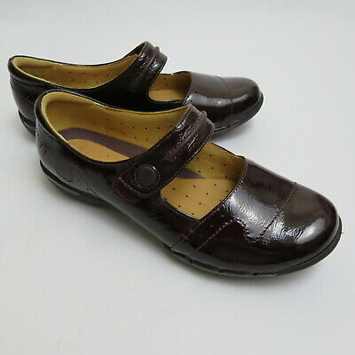CLARKS ARTISAN UNHELMA unstructured 7.5m patent leather burgundy red ... 6efb92617f