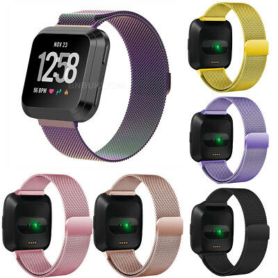 Milanese Replacement  Loop Stainless Steel Watch Band Strap For Fitbit Versa