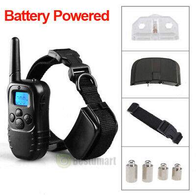 Waterproof 1000 Yard 1 Dog Shock Training Collar Pet Trainer with Remote 4 Modes