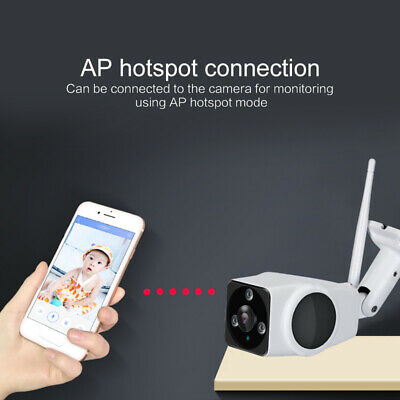 1080P Wireless WIFI IP Camera Outdoor Waterproof Security 360° Panoramic Camera