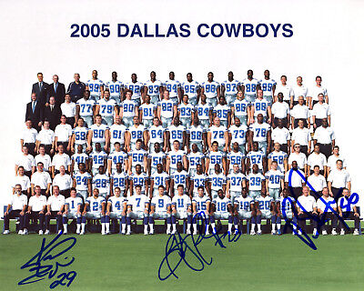 2f2bfd925 2005 DALLAS COWBOYS AUTOGRAPH 8x10 TEAM PHOTO SIGNED BY 3 COWBOYS!! Comes w