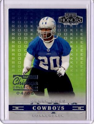 2002 Playoff Honors Chicago Collection DALLAS COWBOYS Derek Ross RC #D 4/5