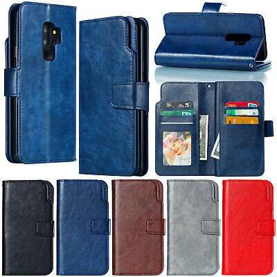For Samsung A8 2018 Case J2 Pro Note 9 Retro Card Wallet Leather Kickstand Cover