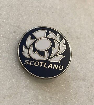 Rare Scotland Rugby Union Supporter Enamel Badge - Wear With Pride For 6 Nations