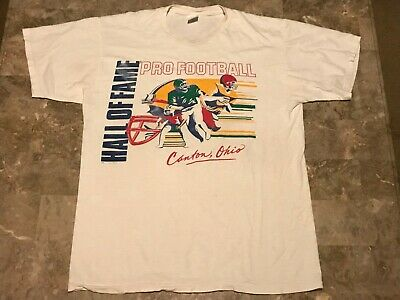 f65236b08 Vintage 90s 1991 Pro Football Hall Of Fame Worn Graphic T-Shirt Adult Size  Large