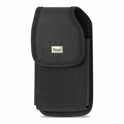 Reiko Vertical Rugged Pouch With Belt Clip In Black (6.4X3.5X0.7 Inches)