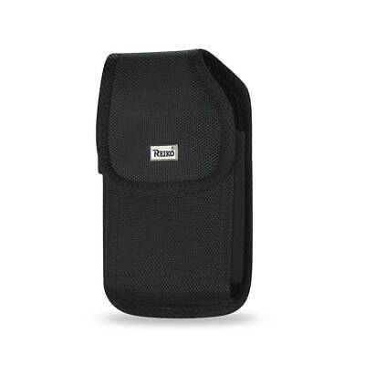 Reiko Vertical Rugged Pouch With Belt Clip In Black (6.6X3.5X0.7 Inches)