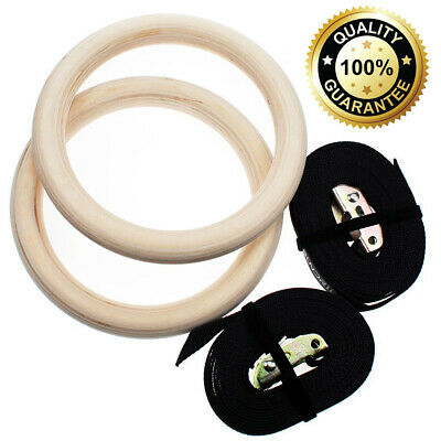 O RLY Suspension Trainer Kit 32mm Olympic Gymnastics Rings + 38mm Straps