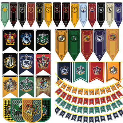 Game of Thrones / Harry Potter House School Wall Banner Flag Home Party Decor US