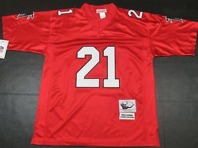 competitive price d7dce 7eef3 DEION SANDERS #21 Atlanta Falcons M&N Throwback Jersey Red