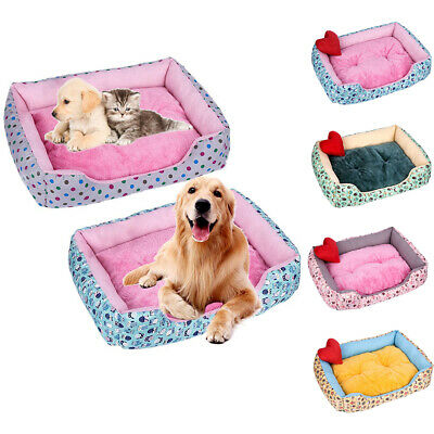 Washable Dog Cat Bed Puppy Cushion House Soft Warm Pet Kennel Mat Blanket