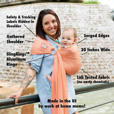 Soft Ring Sling Baby Carrier Pouch Wrap Newborn to Toddler Nursing Carrier -RY62