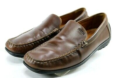 e9fa55b55 Ecco Soft Leather Moc Toe Driving Loafers  149 Men s Shoes Size EU 44 US 10-