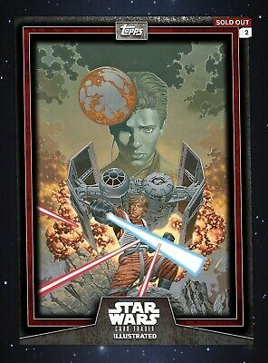Star Wars Card Trader Illustrated Series 6 Red Skywalker Lineage 10cc CTI