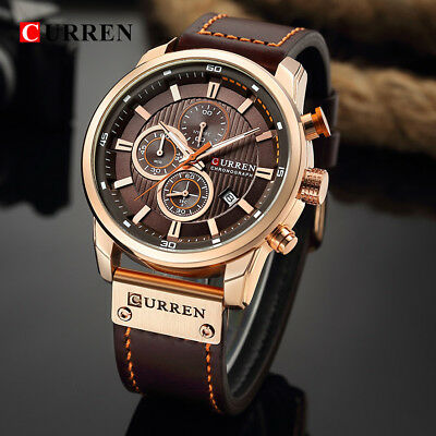 CURREN Watch Men Waterproof Chronograph Sport Male Quartz Top Brand Luxury Watch