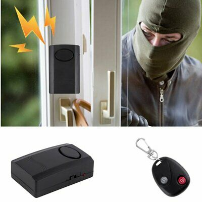 Universal Wireless Remote Control Vibration Alarm Home Security Door Window Car