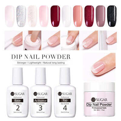 UR SUGAR Dipping Nail Powder Nail Art Dipping Liquid Top Base No UV Lamp Need