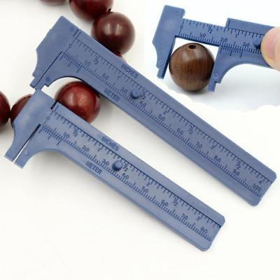 80mm/100mm Mini Plastic Student Sliding Vernier Caliper Gauge Measurement Tool