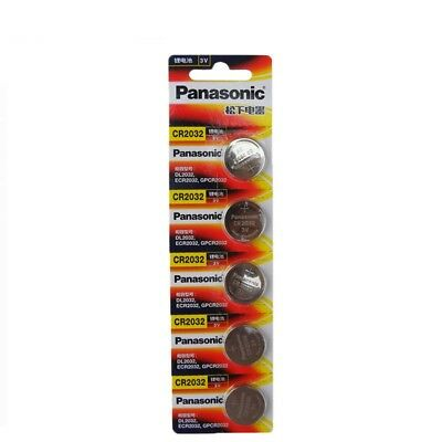 5 pcs FRESH Panasonic CR2032 3v lithium battery Button Coin Cell for Scale