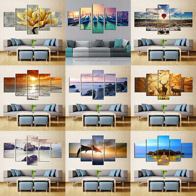 Landscape Paintings Picture Offices Oil Print Canvas Home Unframed Coffee Shop