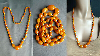 FGLM 老琥珀 19,6 g real amber butterscotch necklace Bernsteinkette Bernstein