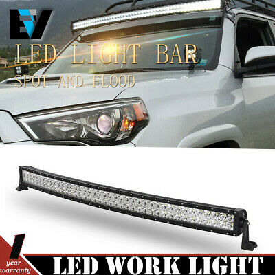 52inch LED Light Bar Curved Flood Spot Combo Truck Roof Driving SUV Offroad 50''