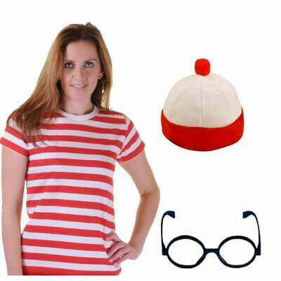 bee2c8cb7d NIGHT CAP RED White Stripe Traditional Long Bed Hat Book Week Fancy ...