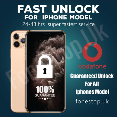 Vodafone Express Unlock Code service iPhone 6S 6 5S 5C 5 SE 4✅24-72Hours