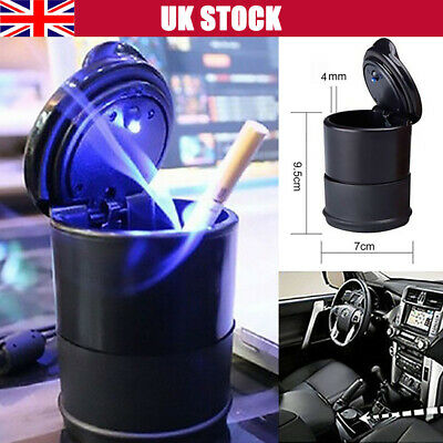 Universal Car Truck Auto LED Cigarette Ashtray Cylinder Cup Holder UK STOCK