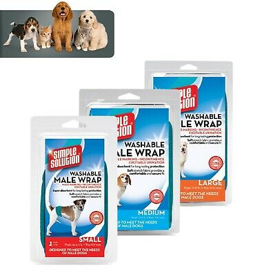 Simple Solution Washable Male Dog Wrap Belly Ban Male Dog Nappy - 3 Sizes