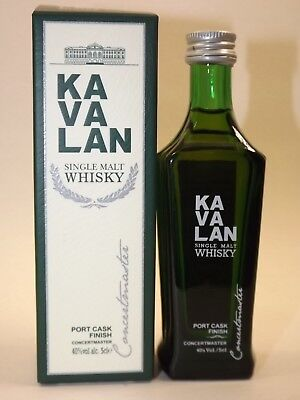 Kavalan Concertmaster Single Malt Whisky 5 cl 40 % mini flasche bottle miniature