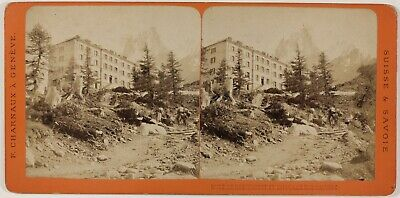 Suisse Montervert Charmoz Photo Charnaux Stereo PL28Th1n27 Vintage Albumine